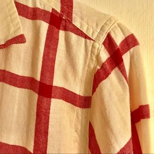 J. Crew Tops - J Crew Boyfriend Shirt Vintage Red Size 6